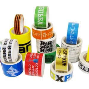 Изготовление клейкой ленты с логотипом