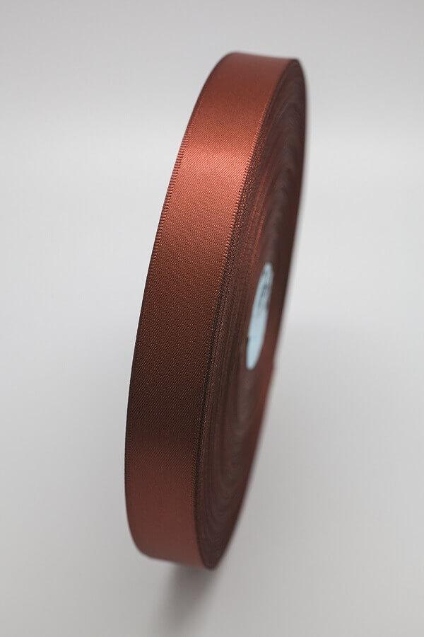 Атласная лента светло-коричневая