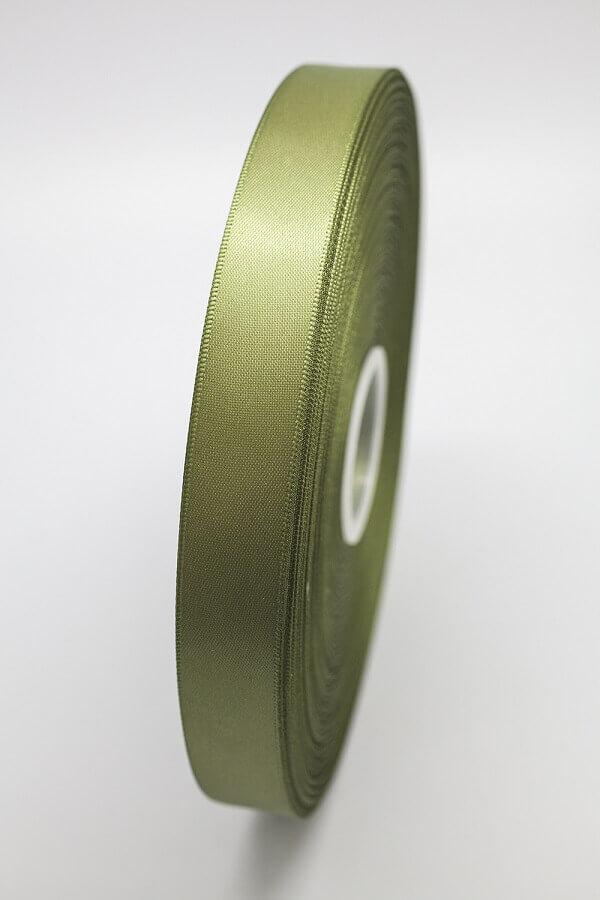 Атласная лента темно-оливковая