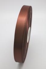 Атласная лента коричневая