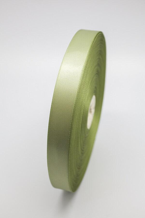 Атласная лента оливковая