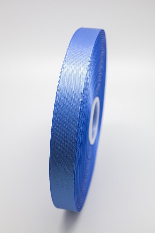 Атласная лента синяя