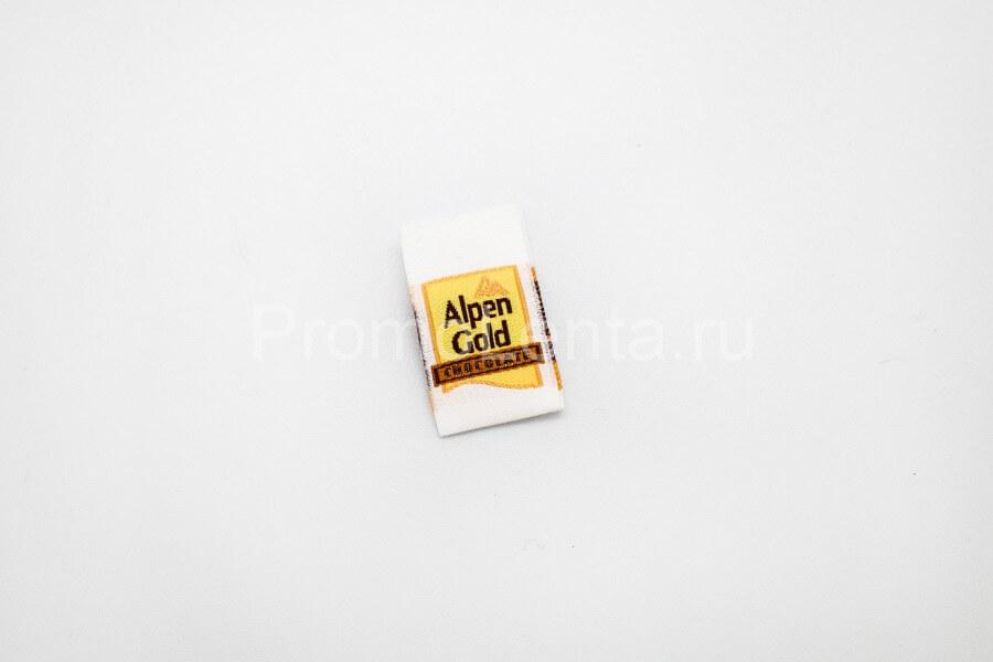 Жаккардовая этикетка «Alpen Gold»