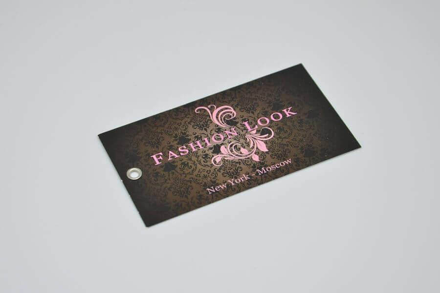 Картонная бирка для одежды «Fashion Look»