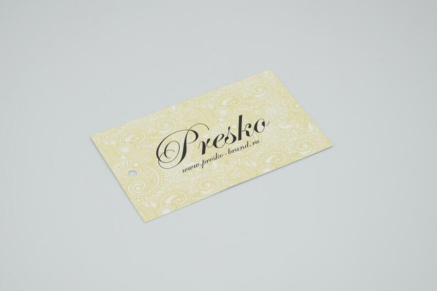 Картонная бирка «Presko»
