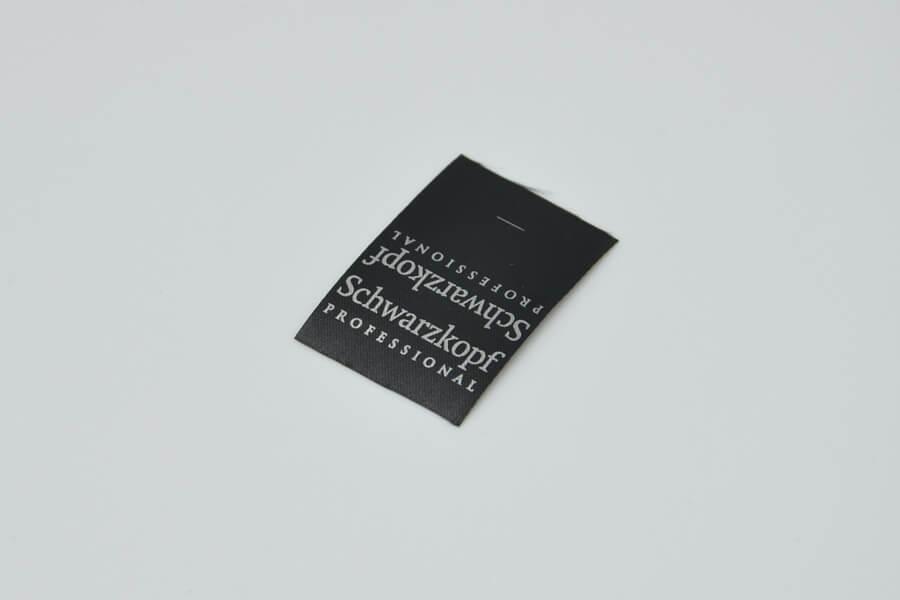 Вшивная тканевая этикетка на одежду «Schwarzkopf»