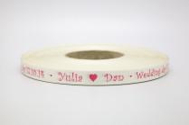 Лента с печатью «Свадьба»