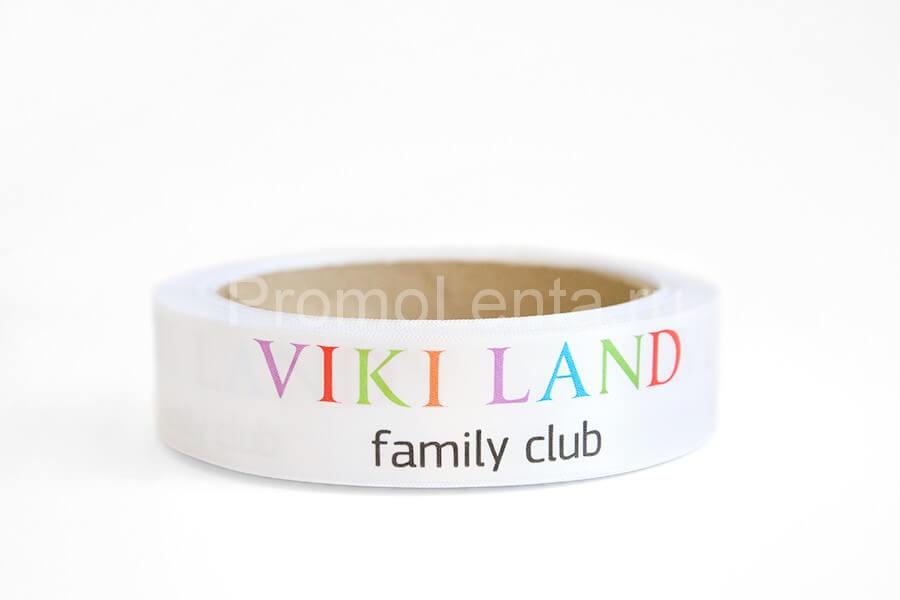 Лента с печатью «Vikiland»