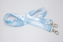 Шнурок для бейджа «Молодая волна», синий