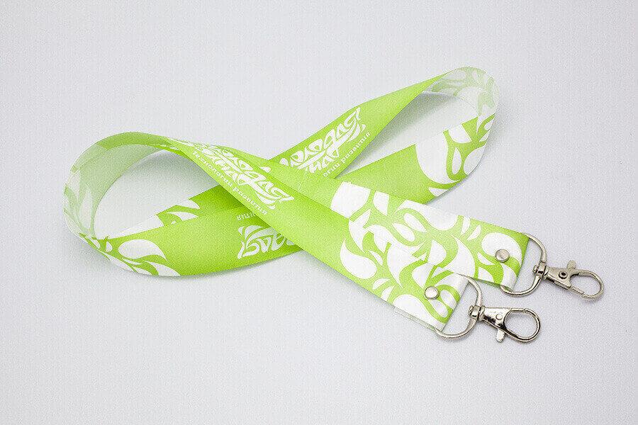 Шнурок для бейджа «Молодая волна», зеленый
