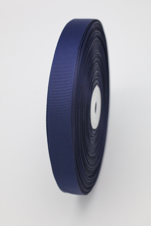 Репсовая лента темно-синяя