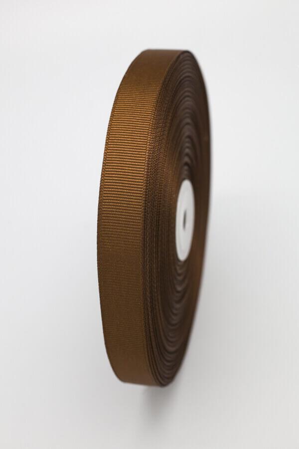 Репсовая лента коричневая