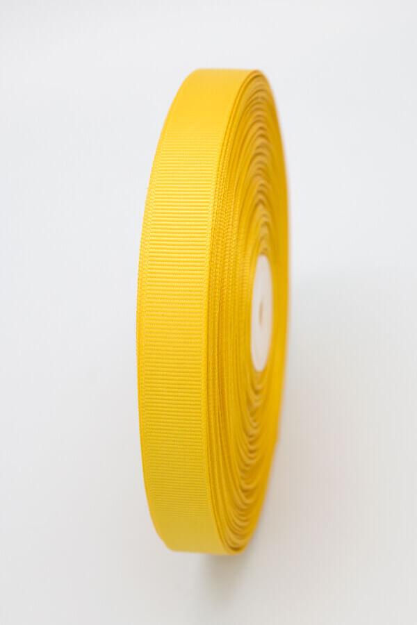 Репсовая лента желтая