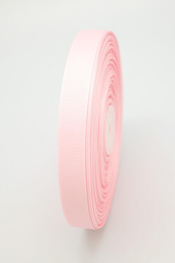 Репсовая лента розовая