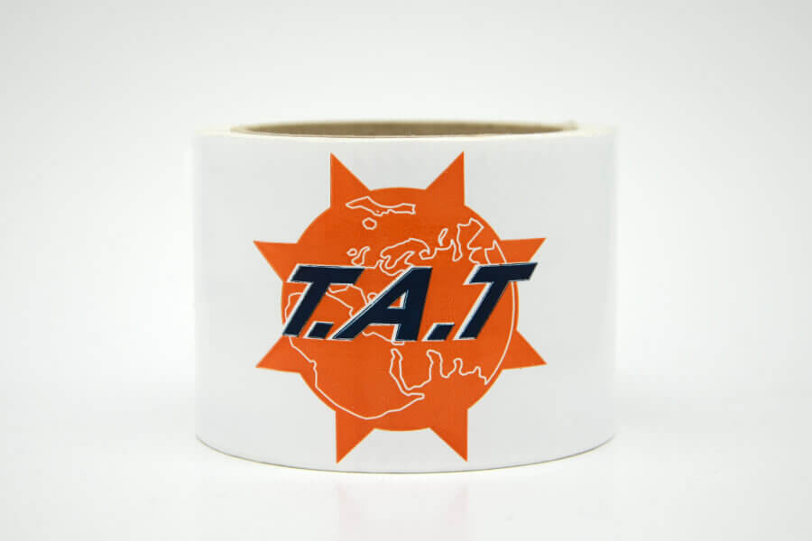 «Клейкая лента с логотипом «TAT»