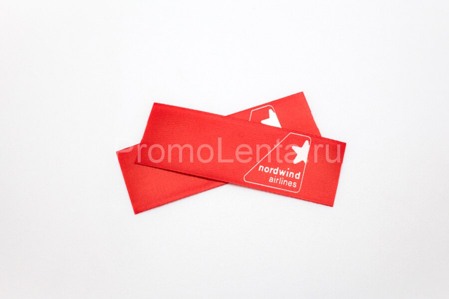 Текстильная этикетка «Nordwind airlines»