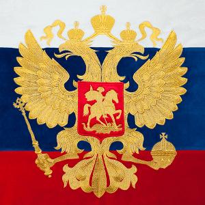 Вышивка на флагах в Москве