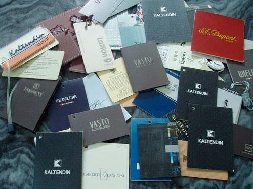 Бумажные ярлыки для одежды на заказ